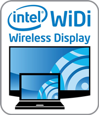 Logo indicating a computer has built-in Intel WiDi Wireless Display.